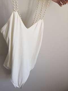 BARDOT pearl bodysuit