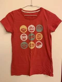 🚚 Lativ紅色T-shirt