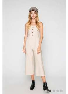 3d1e31469469 Love and Bravery Lana Button Jumpsuit Oat