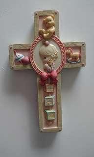 🚚 Precious Moment Hanging Christian Cross