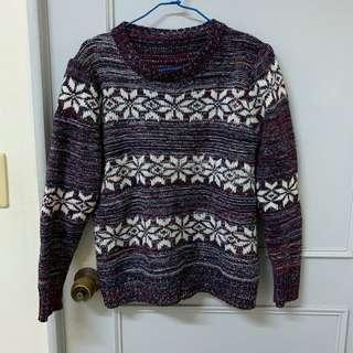 🚚 混色編織雪花毛衣