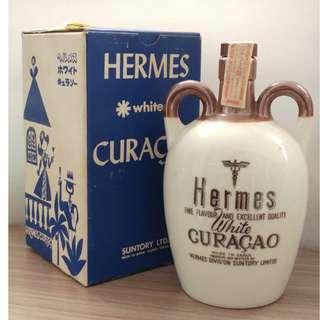 日本Suntory三得利  特別版 瓷器酒瓶 Hermes  white Curacao 620ml