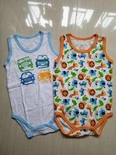 (2件全新) 80碼吉之島嬰兒夾衣 BB底衫 BB背心 bb衫