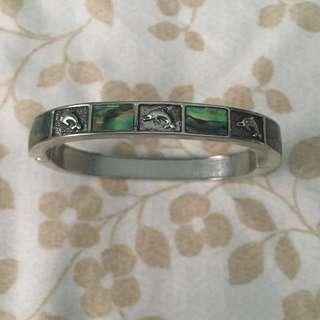 Dolphin Abalone Magnetic Bangle