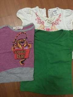Assorted baby shirts