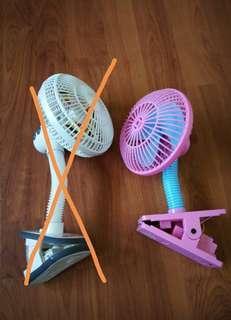 Stroller clip fan (lucky baby white color left)