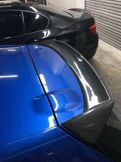 Volkswagen Scirocco 2009-2014 Car Tail Wing Decoration Black Carbon Fiber