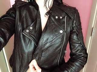 Karen Millen Motorcycle black leather jacket