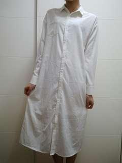 🚚 米白色雪紡材質襯衫