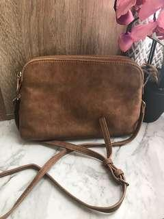 Sportsgirl tan cross body bag