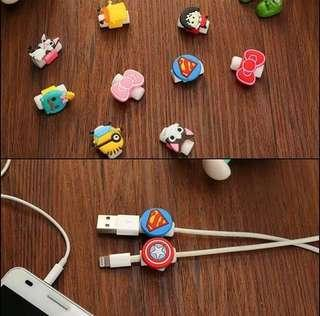 Disney Cable Protector Pelindung Kabel Mike Chip Minion Pooh
