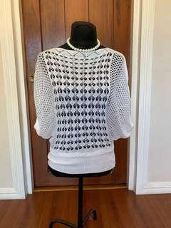 Knitted batwing blouse Fits Medium/Semi/Large frame