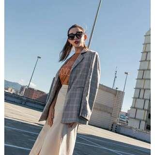 🚚 Mercci22 Classic格紋西裝外套