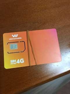 越南上網4G電話卡 Vietnam (多買可少議)
