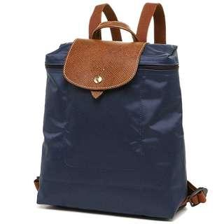 LAST CALL !!! REPRICE !!! LONGCHAMP LE PLIAGE BACKPACK NAVY