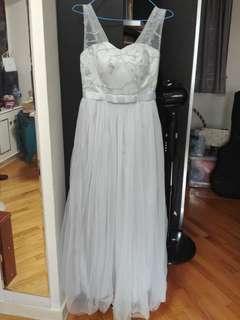 灰色晚裝/長裙/姊妹裙 dress