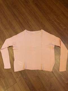 Sweater Rajut warna peach