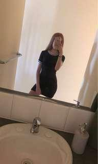Suprè black ribbed dress