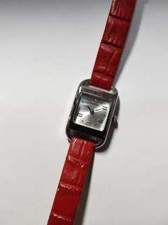 Authentic Guess watch for ladies with bright red strap