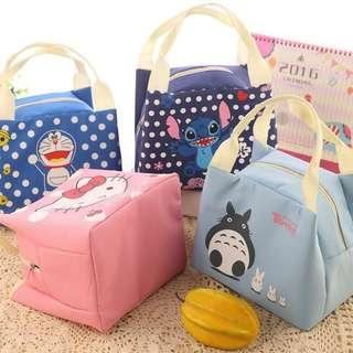 Portable Tote Thermal Insulated Lunch Box Bag Cartoon Waterproof Bento Bag
