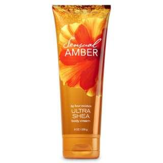 Bath and Body Works Sensual Amber Ultra Shea Body Cream Lotion 226g