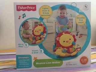 🚚 Fisher Price Musical Lion Walker (brand new)