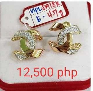 18k saudi gold earrings