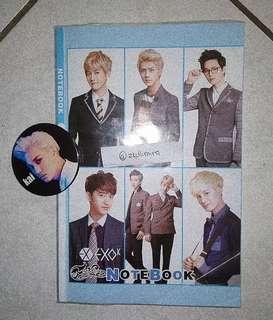[WTS] EXO Notebook +free EXO Kai Badge