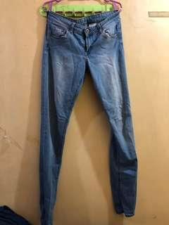H&M Faded Low Waist Jeans