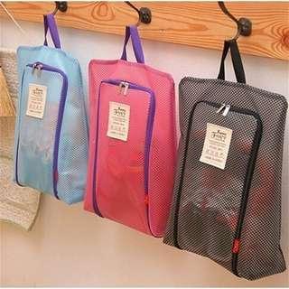 Portable Travel Shoes bag zip view window pouch storage Waterproof Organizer