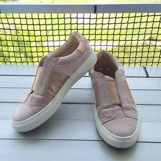 Forever New Rose Gold Terri Slip On Elastic Sneakers Size 36