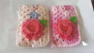 🚚 Handmade Crochet Card Holder Keychain