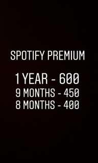 Spotify Premium 1 year and more