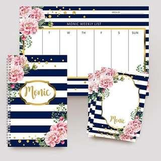 Personalized stationary items