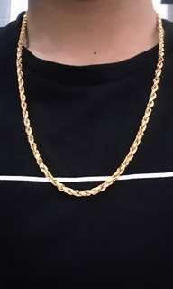 916 gold rope necklace 54.64gram, 60cm, 4mm thick
