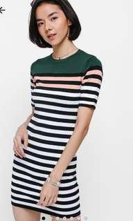 🚚 Love bonito Reysha Stripe knit Dress