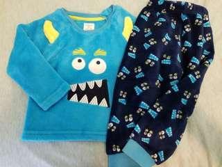 (12-18m) Primark BB毛毛睡衣 Baby Pajamas 家居服