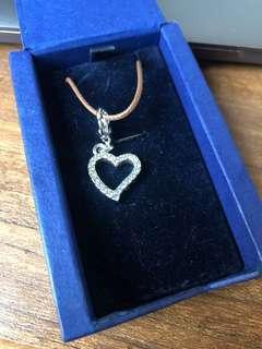 Swarovski Lover Heart Charm Crystal Jewelry