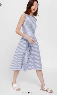 Love bonito Qasha Striped Swing Dress
