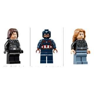 Lego 76051- Winter Soldier (SH257) + Captain America (SH177)+ Agent 13 (SH255)  連武器及特效配件
