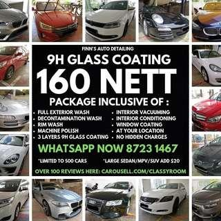 160 Nett 3 Layers 9H Ceramic Glass Coating (Limit to 50 Slots)