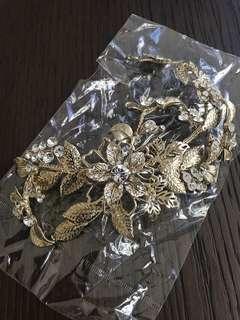🚚 BN wedding elegant light champagne gold hair accessory