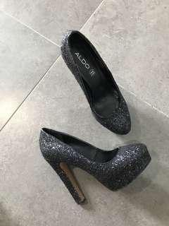 ALDO glitter heels