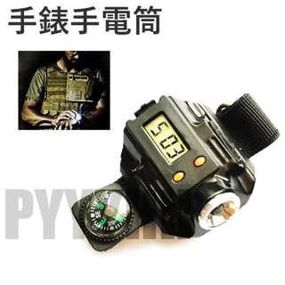 手錶手電筒 手腕燈 騎行燈 強光手電筒 LED 迷你便攜 登山釣魚 夜間照明 戶外 求生 露營