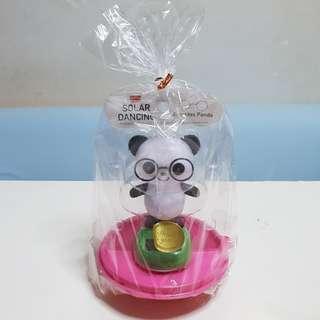 Solar Powered Dancing Eyeglass Panda