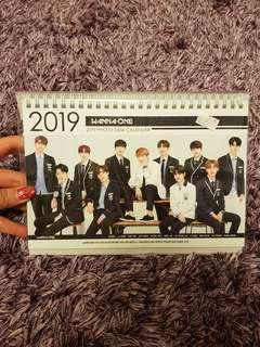 WANNA ONE DESK CALENDER for 2019-2020 [directly from korea]