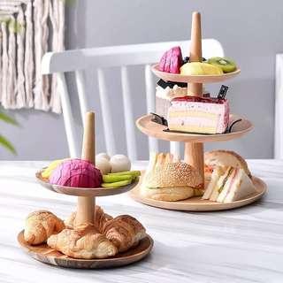 2/3 Tier Dessert Tray Display Decor Stand