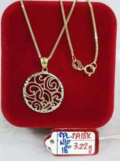 NECKLACE with Pendant Emas 916 #1
