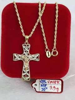 NECKLACE WITH PENDANT GOLD 916 #2