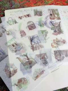 EXQUISITE house life washi stickers DIY 3 Sheets